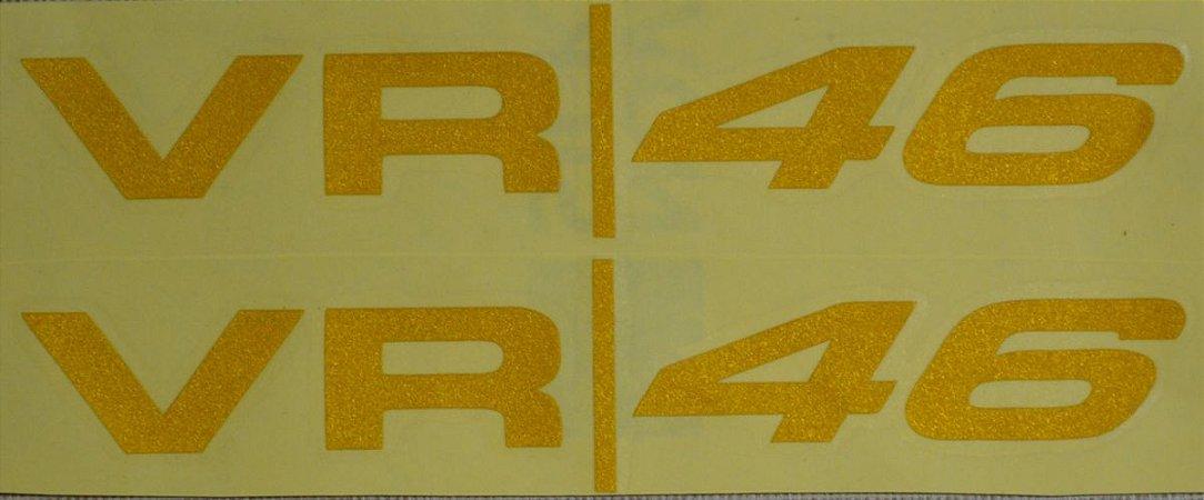 02 Adesivos Refletivos VRI46 15x3cm Valentino Rossi