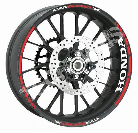 Adesivo de roda Friso de Roda Refletivo Honda CB500x Abstrato Borda Honda