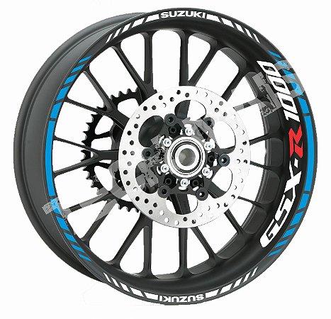 Friso + adesivos de Roda Refletivo Suzuki GSX-r 1000  SRAD Borda Aspas
