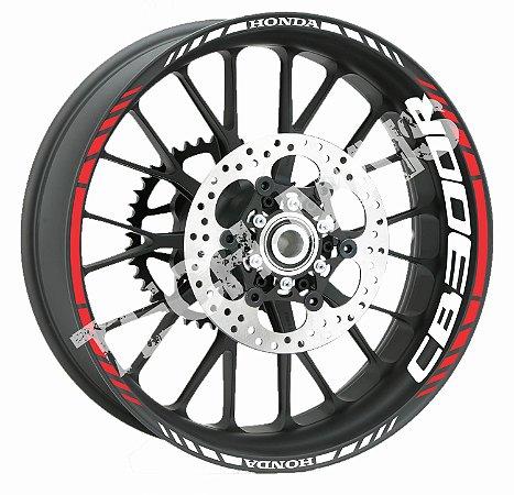 Adesivo de Roda Friso de Roda Refletivo Honda CB300R Aspas Borda  CB 300