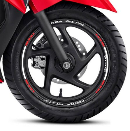 Fita adesivo de Roda Friso de Roda Refletivo Honda Elite