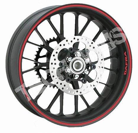 Fita de Roda Adesivo de roda Friso de Roda Refletivo DAFRA Liso 5mm