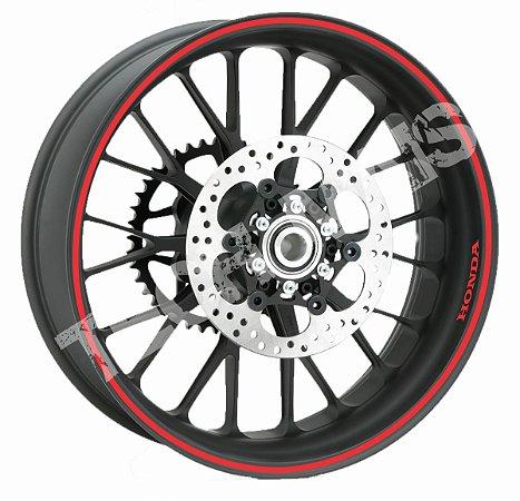 Fita de Roda Adesivo de roda Friso de Roda Refletivo HONDA Liso 7mm