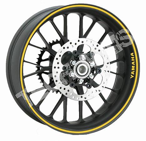 Fita de Roda Adesivo de roda Friso de Roda Refletivo YAMAHA Liso 7mm