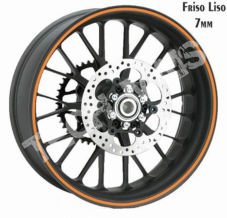 Fita de Roda Adesivo de roda Friso de Roda Refletivo Liso 7mm