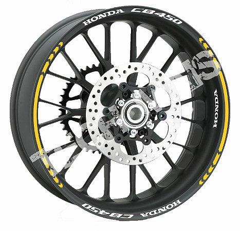 adesivo de Roda Friso Refletivo para Honda CB 450 DX