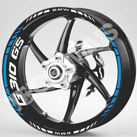 Fita Refletiva Adesivo de Roda Friso de Roda Refletivo BMW G310GS Aspas Borda  G310GS