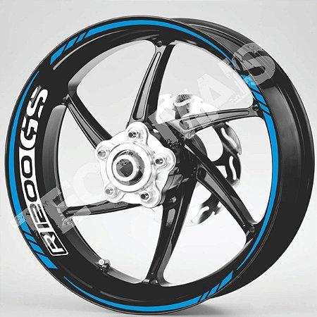 Fita Refletiva Adesivo de Roda Friso de Roda Refletivo BMW R1200GS Aspas Borda  R1200GS