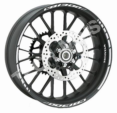 kit Friso Adesivo  Refletivo para Honda CB 1300 SF Super Four  frete Grátis
