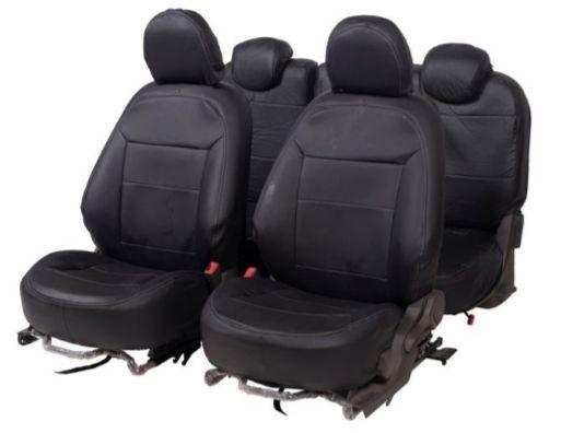 Capa Banco em Courvin Automotivo Preto GM Spin 5 Lugares CarFashion