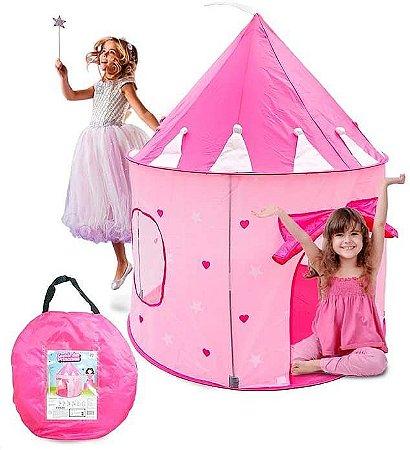 Barraca Toca Infantil Dobrável Tenda Castelo Das Princesas