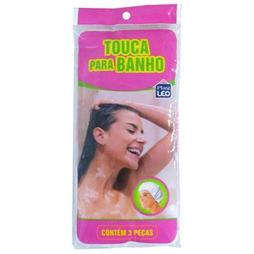 Touca De Banho De Plastico Kit Com 3 Pecas