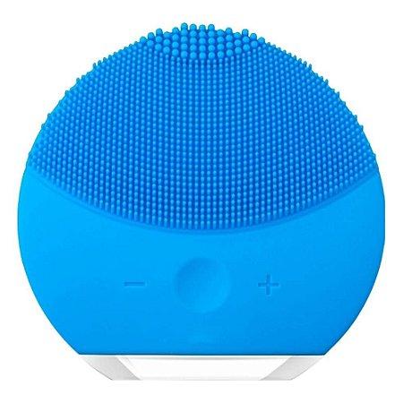 Esponja Elétrica Massagem Fácil Limpeza Rosto Recarregável Azul