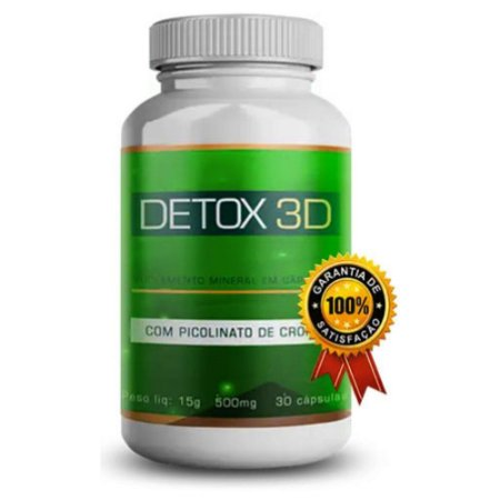 Detox 3d Original Suplemento Mineral Em Capsulas