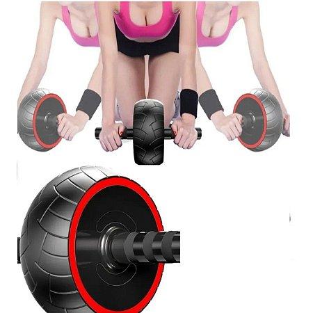 Roda Rofissional Rolinho Fitnes Exercícios Abdominal +brinde