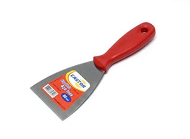 Espátula de Aço Inox 02 cm Cabo Plástico 696 - Castor