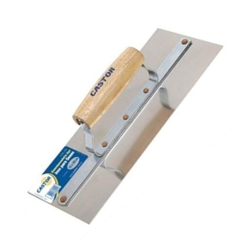 Desempenadeira em Aço Inox Para Gesso 5 Cravos 12X30 - Cod 222 -  Castor