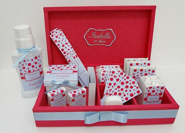 Caixa Para Kit Toalete/lavabo + Rótulos Personalizados