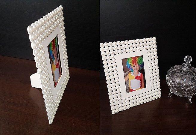 Porta Retrato com pérolas
