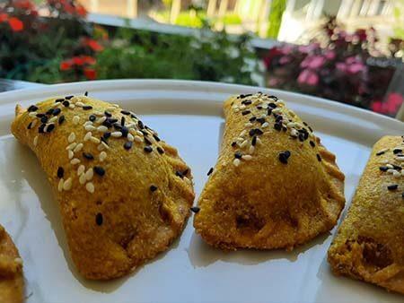 Pastel De Abóbora Com Cogumelos