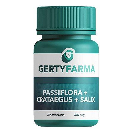 Passiflora + Crataegus + Salix - 30 Cápsulas