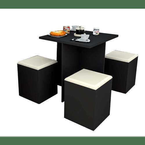 Mesa de Jantar em MDP, Com 4 Banquetas - CON1201