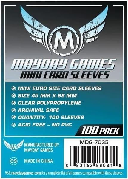 Sleeves 45 X 68 mm (Mini Euro) – Mayday