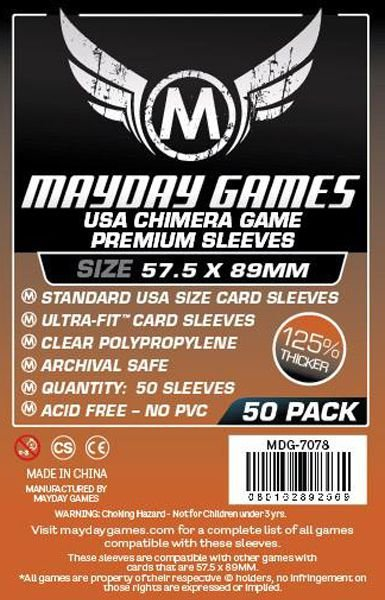 Sleeves Premium 57,5 x 89 mm (Usa Chimera) – Mayday