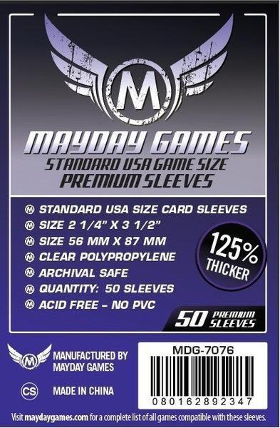Sleeves  Premium  56 x 87 mm (Usa Padrão) – Mayday