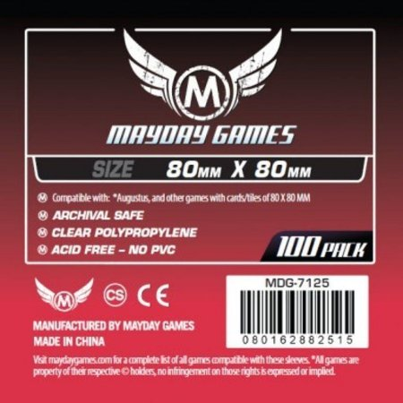 Sleeves 80 x 80 mm (Quadrado) – Mayday