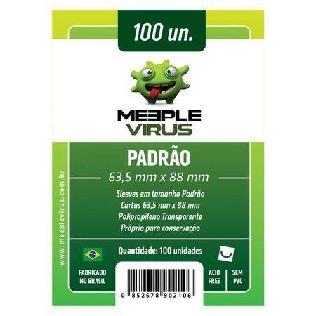 Sleeves 63,5 X 88 mm (Padrão) – Meeple Virus