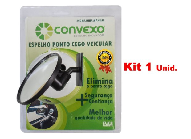 Espelho CONVEXO Ponto Cego Veículo Passeio - Kit 1 unid