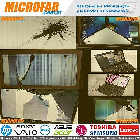 Serviços em Telas de LED e LCD para Notebook, Manutenção ou Substituição