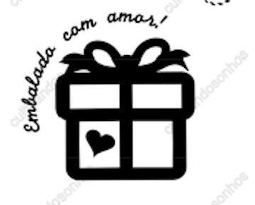 Carimbo 10 Embalado com amor quadrado