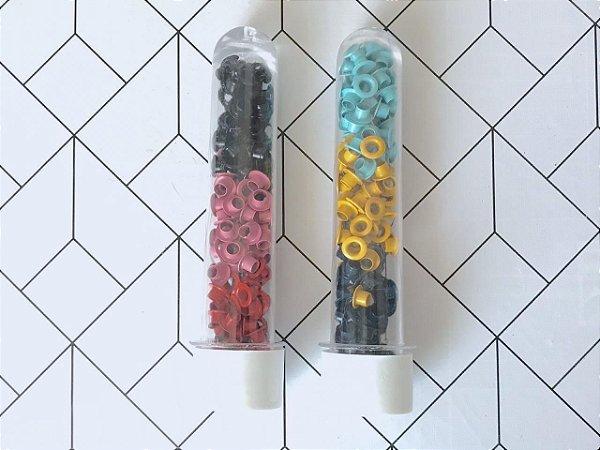 Kit ilhós cores - 600 peças