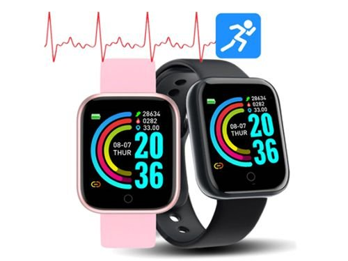 Relógio Smartwatch Inteligente à prova de água Rastreador de Fitness Monitor de Frequência Cardíaca Pressão Arterial Bluetooth Smartwatch para iOS androide