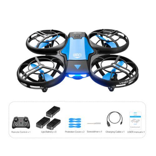 Mini Drone Zangão 4k HD Câmera Wifi 3 Baterias com Lâmina de Reposição