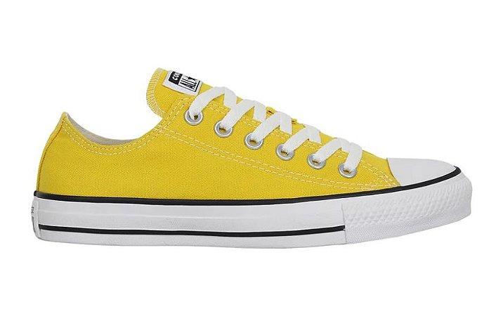 Tênis Converse All Star Chuck Taylor Tecido Original cor Amarelo