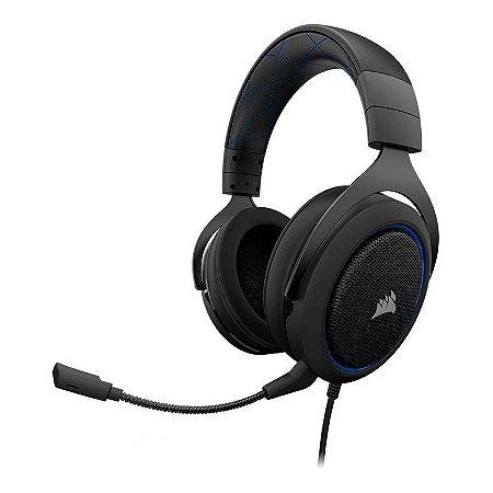FONE GAMER HEADSET CORSAIR HS50 STEREO  BLUE (