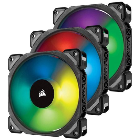 VENTILADOR P/ GABINETE CORSAIR ML120 PRO RGB LED 120MM PWM PREMIUM (CO-9050076-WW)