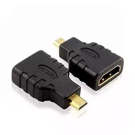 ADAPTADOR HDMI FEMEA PARA MICRO HDMI MACHO LELONG LE-5517
