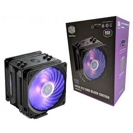 COOLER P/ PROCESSADOR COOLER MASTER HYPER 212 RGB BLACK EDITION - RR-212S-20PC-R1