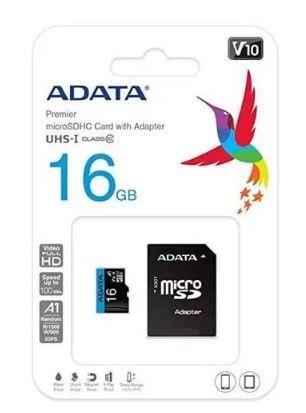 CARTAO DE MEMORIA ADATA 16GB AUSDH16GUICL10A1-RA1
