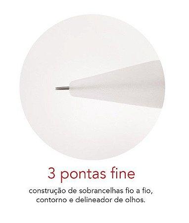 Agulha 3 pontas fine - Mag Estética 10 unid
