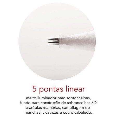 Agulha 5 pontas linear - Mag Estética 10 unid