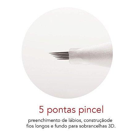 Agulha 5 pontas pincel - Mag Estética 10 unid