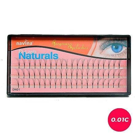 Cílios 6D fio a fio Naturais | Navina 0.1mm