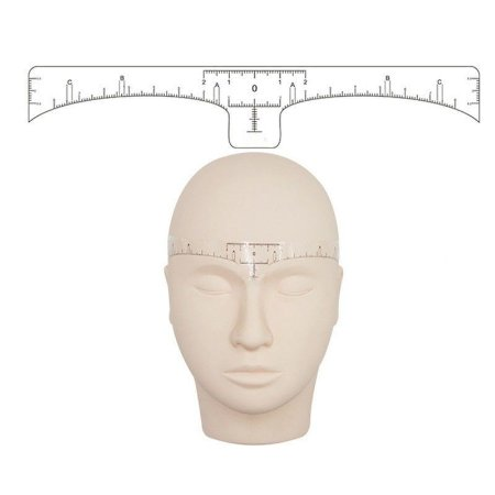 Régua Adesiva para Medição de Sobrancelhas - 10 unid