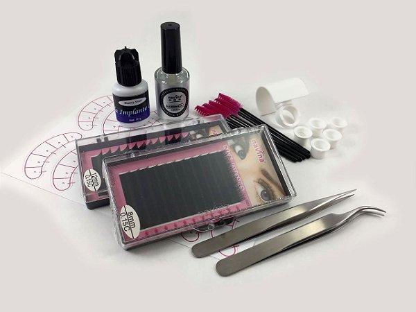 Kit Alongamento de Cílios Completo Beauty Sense - Básico