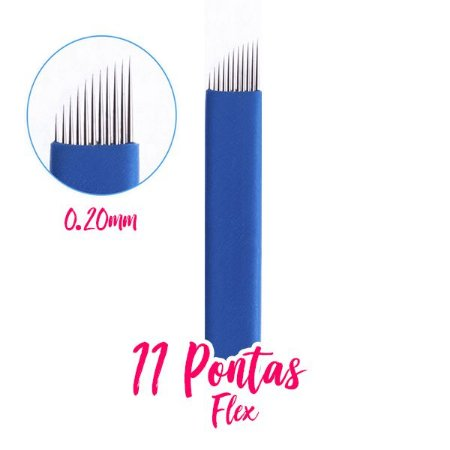 Lâmina / Agulha para Tebori 11 Pontas Flex 0.20mm